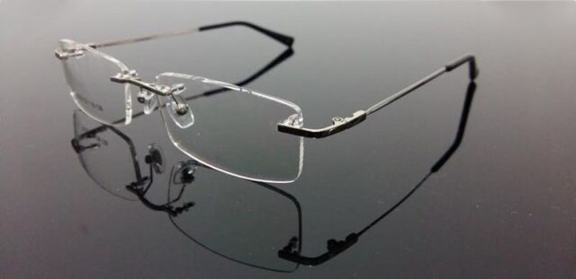 Light Flexible Rimless Memory Titanium Eyeglass Eyewear RX Frame 4 color