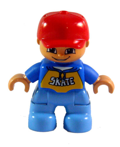 Lego Duplo Boy Red Baseball Cap and Skate Shirt New Child