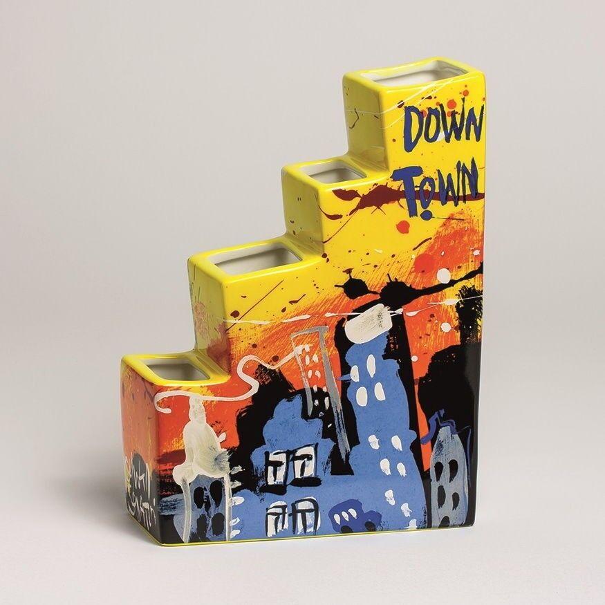 SELWYN SENATORI - Senatori Town Collection -  Skyline Downtown  - Pop Art Vase