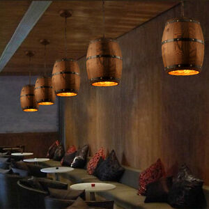 Wine wood barrel hanging fixture pendants ceiling lamp lighting bar image is loading wine wood barrel hanging fixture pendants ceiling lamp aloadofball Image collections