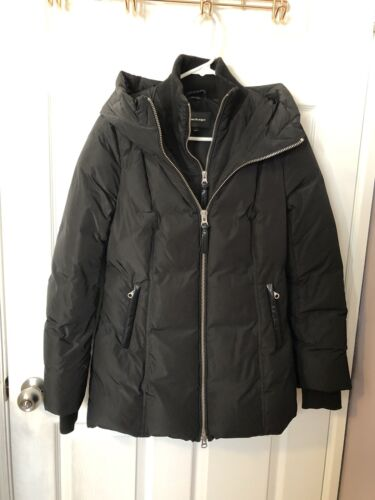Mackage Down Puffer Jacket Size S Small Leather Tr