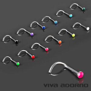 0-8mm Piercing de Nez À BOUTS recourbés émail Piercing Nez Piercing émaillé z466 Vma3PNLR-09170517-752273310