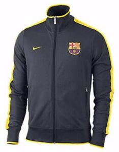 1960450507f Image is loading NIKE-FC-BARCELONA-AUTHENTIC-N98-TRACK-JACKET-Grey-
