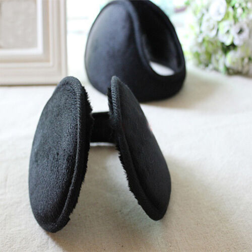 Black Fleece Earmuff Winter Ear Muff Wrap Band Warmer Grip Earlap Gift Male