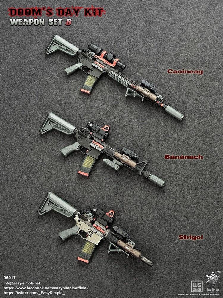 Easy&Simple 06017 1 6th Doom's Day Kit II Gun Weapon Model Set Toy