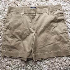 Lands' End Shorts Khakis Beige 14 Flat Front Tan Hiking Women's