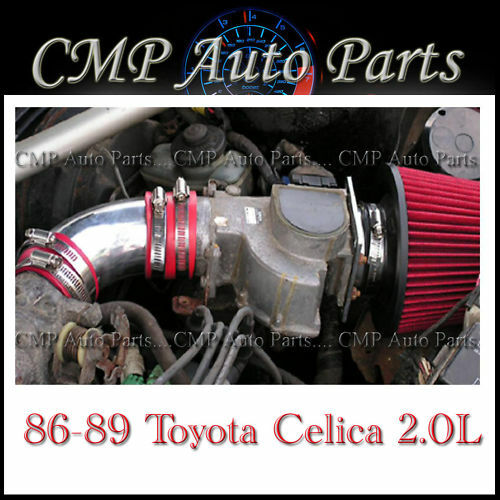 RED AIR INTAKE KIT FIT 1986-1989 TOYOTA CELICA 2.0 2.0L 4-CYL NON-TURBO