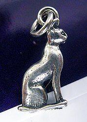 Bast Bastet 3D Égyptien Égypte Sterling Silver Charm Chat Bijoux