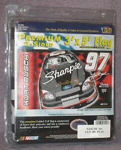 KURT-BUSCH-97-NASCAR-Collectors-Signature-Edition-3x5-Premium-2-Sided-Flag
