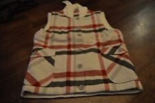 Womens Woolrich Smithfield Wool Vest Size Medium Color Cream
