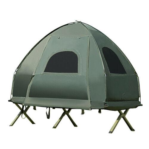 1 personne Compact Pop Up Tente Camping-Avec sac de couchage Matelas d/'Air Pompe à pied