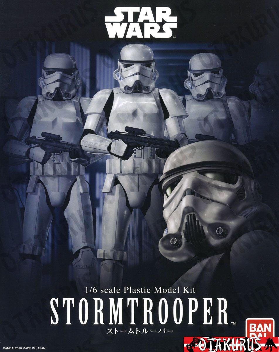 Strom Trooper Star Wars Scale 1 6 Plastic Model Figure Kit Bandai Japan