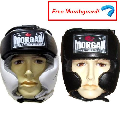 sparring helmet fight box punch gear MORGAN CLOSED BOXING HEAD GUARD
