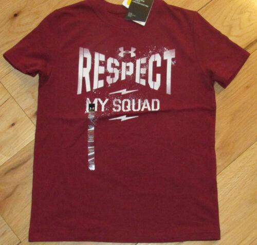 Under Armour Respect My Squad tee shirt NWT UPICK boys/' M XL cardinal  maroon