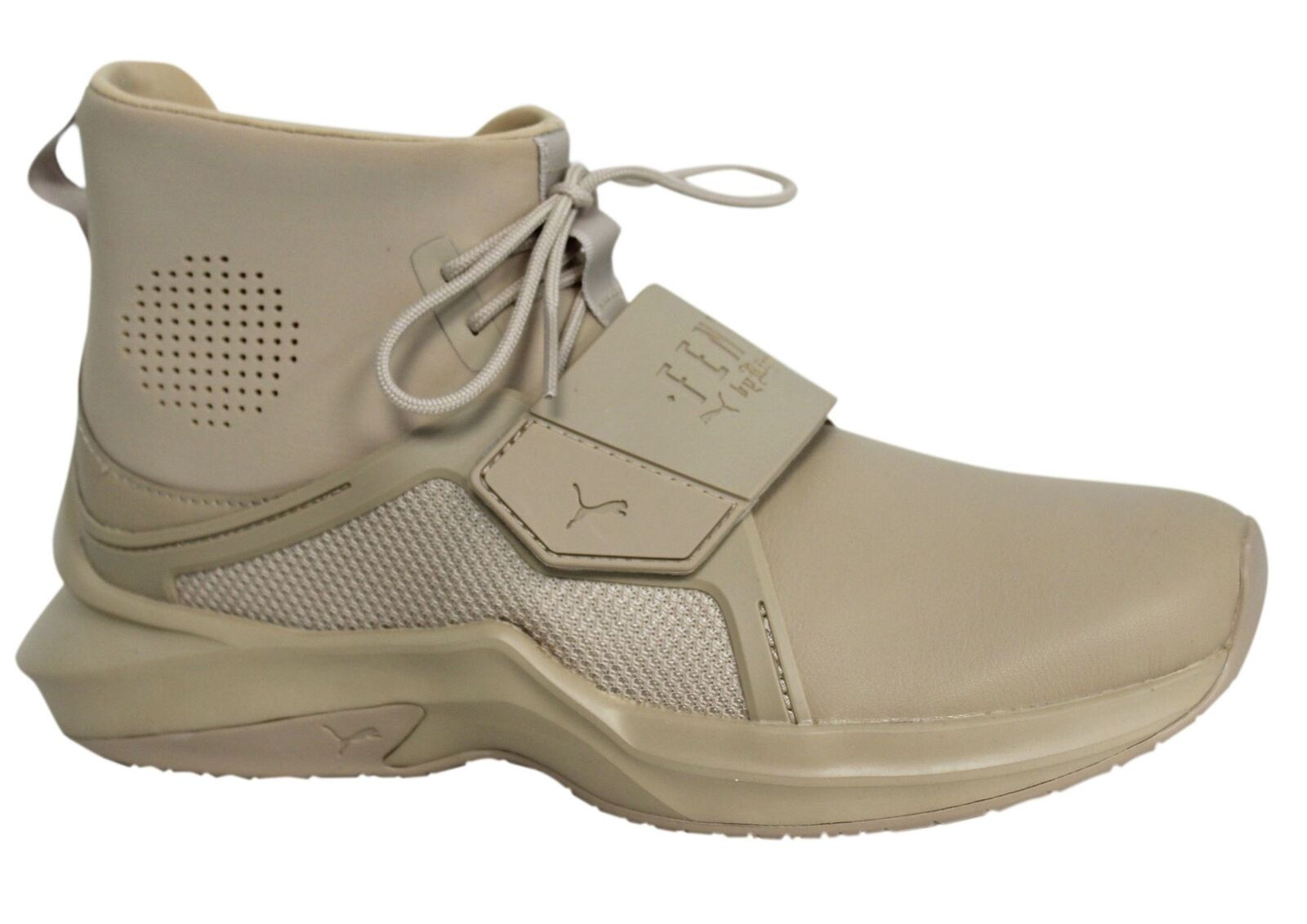 Puma Fenty By Rihanna Sesame Leather Textile Womens The Trainer 190398 03 P4
