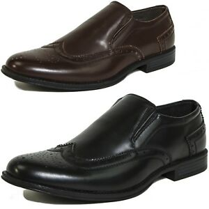 Alpine-Swiss-Basel-Mens-Wing-Tip-Dress-Shoes-Brogue-Medallion-Slip-On-Loafers
