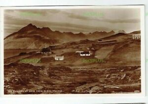 OLD-POSTCARD-THE-CUILLINS-OF-SKYE-FROM-ELGOL-VILLAGE-SCOTLAND-REAL-PHOTO-1930S
