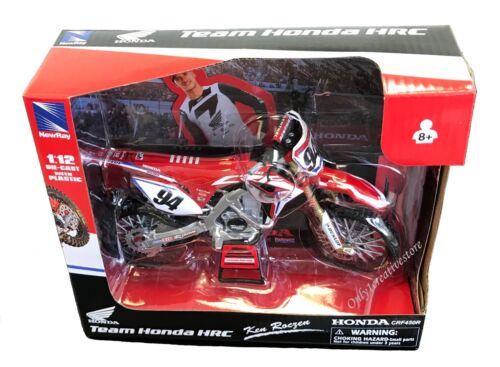 NewRay Honda CRF450R Ken Roczen #94 Dirt Bike 1:12 Red