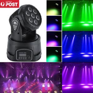 details about 105w rgbw 7 led mini moving head light dmx512 stage light dj party lights au
