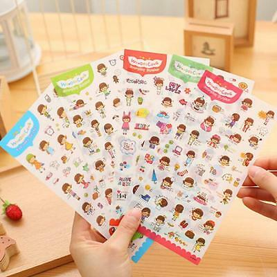 6 PCS HOT Diary Decoration Scrapbooking Stickers PVC Stationery Planner Stickers