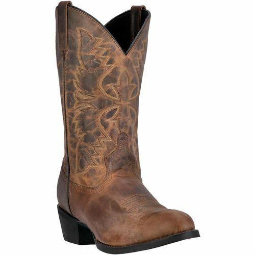 Larojoo Hombre Birchwood Cowboy Del Oeste botas de Piel Marrón 68452