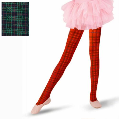3 PAIRS OF GIRLS LOVELY TARTAN OPAQUE TIGHTS