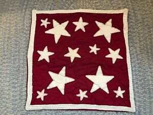 Pottery Barn Kids Red Amp White Stars Quilted Pillow Sham 26
