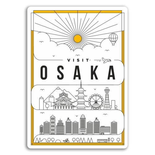 2 X 10cm Art Deco Osaka Japón Pegatinas De Vinilo-Diversión Pegatina Laptop Equipaje #18502