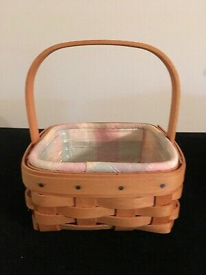 Oatmeal Longaberger Tarragon Coaster Tote Basket Liner