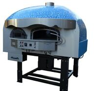 Mixed Gas Wood Burning Pizza Oven Blue Mosaic