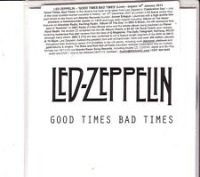 """LED ZEPPELIN """"Good Times Bad Times""""  1 Live Track Promo CD RARE"""