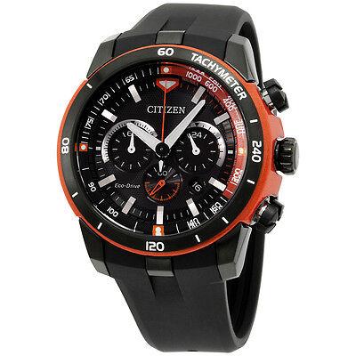 Citizen Black Dial Black Silicone Strap Men's Watch CA415407E