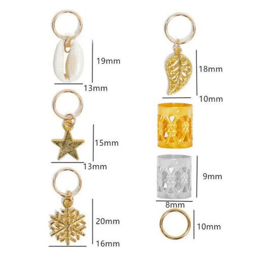 80Pcs Hair Jewelry Braid Rings Cuffs Decor Pendants Dreadlocks Beads Accessories