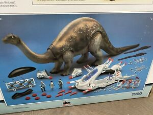 Dino-Riders-Brontosaurus-Tyco-Toys-Vintage-With-Manual-And-Box-Dinosaur-Rare-Big