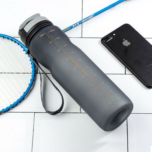 1000ML Cycling Gym Drinking Water Bottles Leak-Proof Plastic Cup Large Capacity