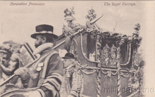 ROYALTY Coronation Review 1902, King Edward VII The Royal Carriage