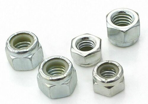 """Select 2-56 to 5//8/""""-11 304 Stainless Steel Nylon Lock Hex Nut Right Hand Thread"""