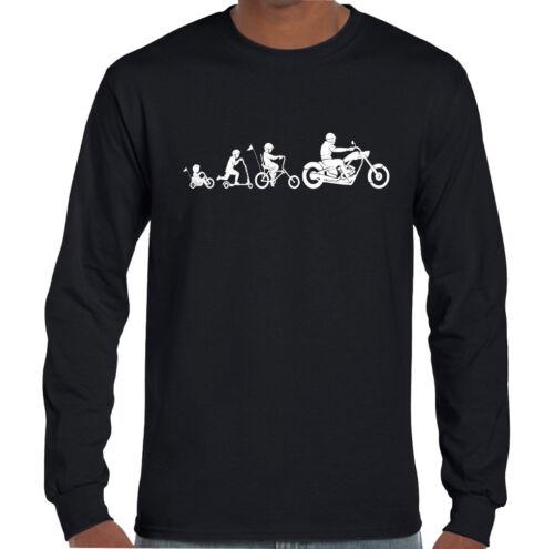 Two Wheel Evolution Mens Funny Motorbike T-Shirt Bike Biker Motorcycle