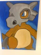 Original Oil painting 12x16 Pokemon character Cubone
