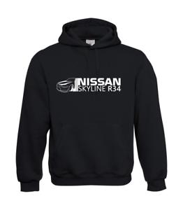 Nissan-Skyline-R34-I-Patter-I-Fun-I-Funny-to-5XL-I-Men-039-s-Hoodie