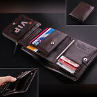 Men's Genuine Leather Trifold Wallet Money Bag Credit Card Holder Coin Purse