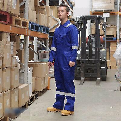 Aus Dem Ausland Importiert Walls Fr Flame Resistant Work Wear Overalls Coverall Boiler Suit Royal Rrp £100