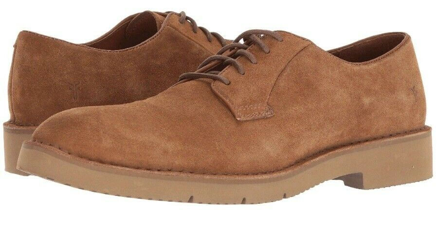 Frye Crosby Oxford Men's 8 M Oxford Copper Tan Brown Suede shoes New w  Box  198
