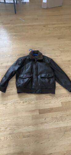 leather jacket men xl roundtree & Yorke
