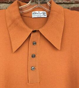 Vintage-60-039-s-Kmart-Ban-Lon-Men-039-s-XL-Polo-Shirt-100-Nylon-Rat-Pack-Rockabilly