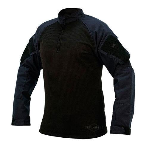 Camisa de combate de invierno Tru 1 4 Cremallera Azul Marino Talla grande