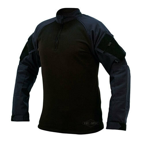 TRU 1 4 Zip Winter Combat Shirt Navy Size XL