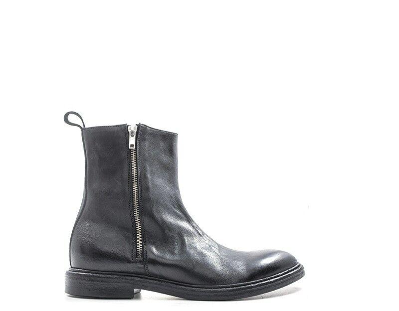 shoes MEZZETINTE Homme black Cuir naturel 5544TEV-NE
