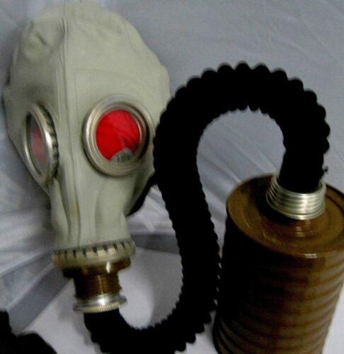 Gasmaske  Gummischlauch Halloween Filter Tasche Latex Fetisch Fasching Karneval