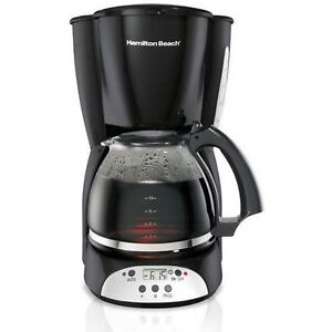 Hamilton Beach 49465r 12 Cup Programmable Coffee Maker For Cone Filters Black